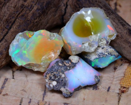 Welo Rough 24.06Ct Natural Ethiopian Play Of Color Rough Opal D1311