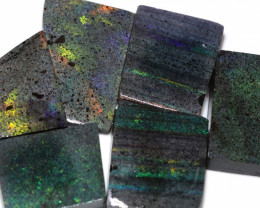 264 CTS ANDAMOOKA MATRIX ROUGH SLABS-DIFFERENT PATTERN [BY9568]