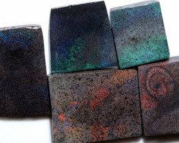 220.10 CTS ANDAMOOKA MATRIX ROUGH SLABS-DIFFERENT PATTERN [BY9582]