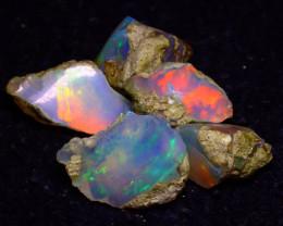 22.17Ct Multi Color Play Ethiopian Welo Opal Rough J1705/R2
