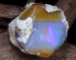 Welo Rough 28.22Ct Natural Ethiopian Play Of Color Rough Opal D1505