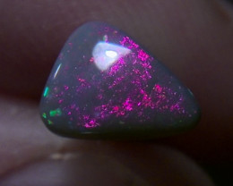 1.1ct Solid Lightning Ridge dark opal,multiple gem fire, pink!pink!