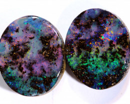 9.15CTS  BOULDER OPAL  POLISHED CUT STONE PAIR  TBO-A1552