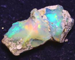 13.43Ct Multi Color Play Ethiopian Welo Opal Rough J2004/R2
