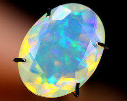 2.28cts WaterClear Natural Faceted Ethiopian Welo Opal / BF2996