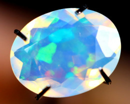 WaterClear Blue 1.45cts  Natural Faceted Ethiopian Welo Opal / BF2998