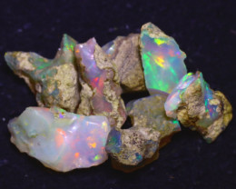 29.70Ct Multi Color Play Ethiopian Welo Opal Rough J2204/R2