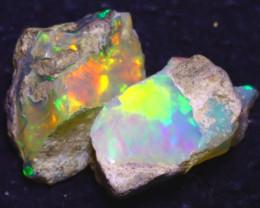 12.41Ct Multi Color Play Ethiopian Welo Opal Rough J2208/R2