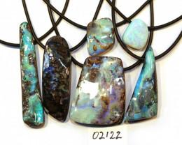6 = 525cts Australian Boulder Opal Pendants ML02122