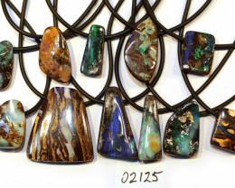 11 = 605cts Australian Boulder Opal Pendants ML02125