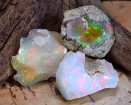 Welo Rough 26.00Ct Natural Ethiopian Play Of Color Rough Opal D2002