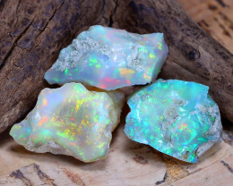 Welo Rough 23.53Ct Natural Ethiopian Play Of Color Rough Opal D2005