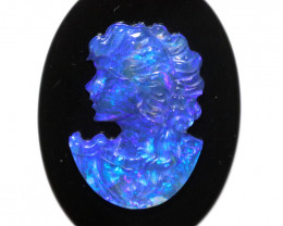 10.21 CTS CAMEO CARVING WITH OPAL -HAND CARVED [SEDA7449]