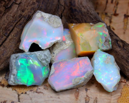 Welo Rough 33.61Ct Natural Ethiopian Play Of Color Rough Opal F2110