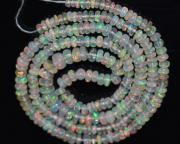 31.20 Ct Natural Ethiopian Welo Opal Beads Play Of Color OB1114