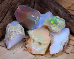 Welo Rough 37.30Ct Natural Ethiopian Play Of Color Rough Opal D2202