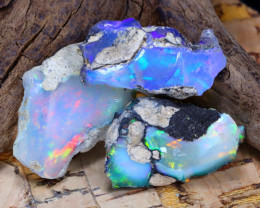 Welo Rough 21.02Ct Natural Ethiopian Play Of Color Rough Opal F2201