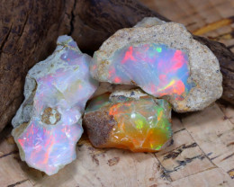 Welo Rough 27.50Ct Natural Ethiopian Play Of Color Rough Opal F2202
