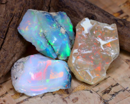 Welo Rough 32.37Ct Natural Ethiopian Play Of Color Rough Opal F2203