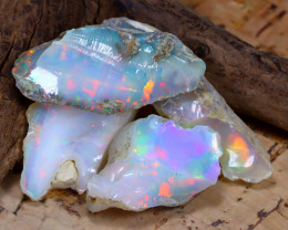Welo Rough 29.24Ct Natural Ethiopian Play Of Color Rough Opal F2205
