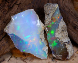 Welo Rough 17.82Ct Natural Ethiopian Play Of Color Rough Opal F2211