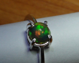 OPAL SIZE 6 WOMENS 925 STERLING SILVER RING
