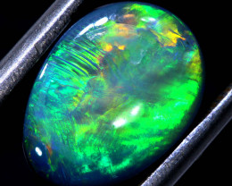 3.20CTS L.RIDGE  OPAL DOUBLET  ON BLACK  POTCH STONE TBO-A1629