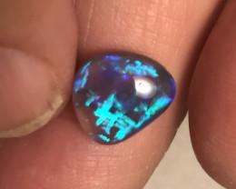 2.94 cts Black Crystal Opal - Lightning Ridge