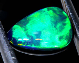 1.60CTS L.RIDGE  OPAL DOUBLET  ON BLACK  POTCH STONE TBO-A1637