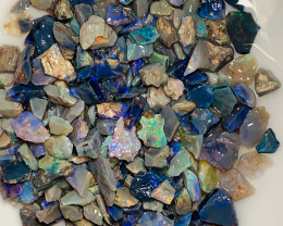 390CTs of Black Opal Chips - Bright and Full of Colours
