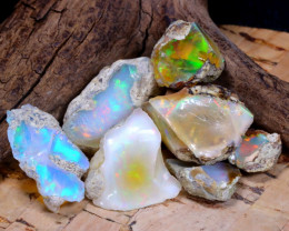 Welo Rough 44.46Ct Natural Ethiopian Play Of Color Rough Opal F2303