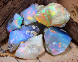 Welo Rough 43.36Ct Natural Ethiopian Play Of Color Rough Opal F2309