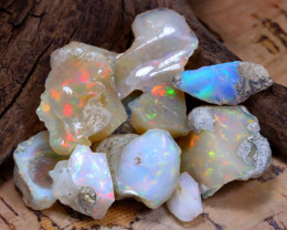 Welo Rough 47.22Ct Natural Ethiopian Play Of Color Rough Opal F2310