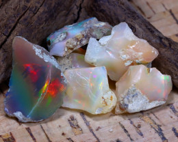 Welo Rough 43.76Ct Natural Ethiopian Play Of Color Rough Opal F2311