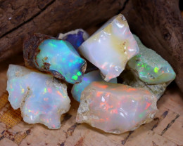 Welo Rough 43.84Ct Natural Ethiopian Play Of Color Rough Opal D2304