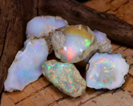 Welo Rough 45.90Ct Natural Ethiopian Play Of Color Rough Opal D2310