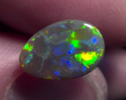 1.55ct Lighting Ridge Solid Gem Dark Opal Muitiple Gem colors