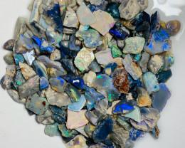 400 CTs Multicolour Rough Lightning Ridge Opals - Lots of Colours, Good Pot