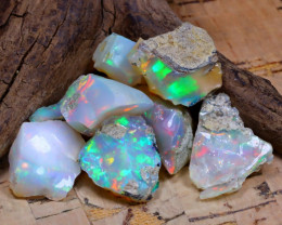 Welo Rough 37.15Ct Natural Ethiopian Play Of Color Rough Opal D2401