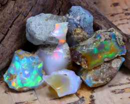 Welo Rough 39.65Ct Natural Ethiopian Play Of Color Rough Opal D2405