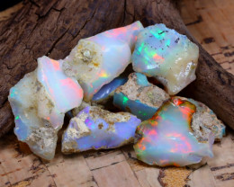 Welo Rough 39.42Ct Natural Ethiopian Play Of Color Rough Opal D2406