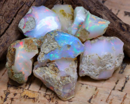 Welo Rough 44.08Ct Natural Ethiopian Play Of Color Rough Opal F2404