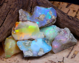 Welo Rough 40.70Ct Natural Ethiopian Play Of Color Rough Opal F2410