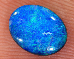0.54ct 7.3x5.7mm Solid Lightning Ridge Dark Opal [LO-2622]