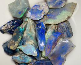 PURPLE & BLUE DARK SEAM ROUGH OPALS TO CUT- 150 CTS  #1211