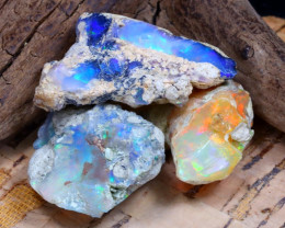 Welo Rough 31.12Ct Natural Ethiopian Play Of Color Rough Opal F2502