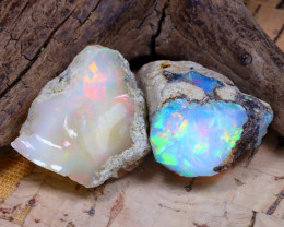 Welo Rough 28.32Ct Natural Ethiopian Play Of Color Rough Opal F2504