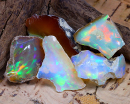 Welo Rough 36.13Ct Natural Ethiopian Play Of Color Rough Opal F2506
