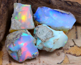 Welo Rough 39.18Ct Natural Ethiopian Play Of Color Rough Opal D2502