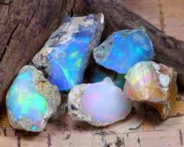 Welo Rough 35.94Ct Natural Ethiopian Play Of Color Rough Opal D2504
